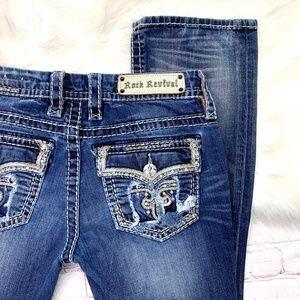 👖I•ROCK REVIVAL•I 'Ava' Slim Boot Jeans 29x32 👖